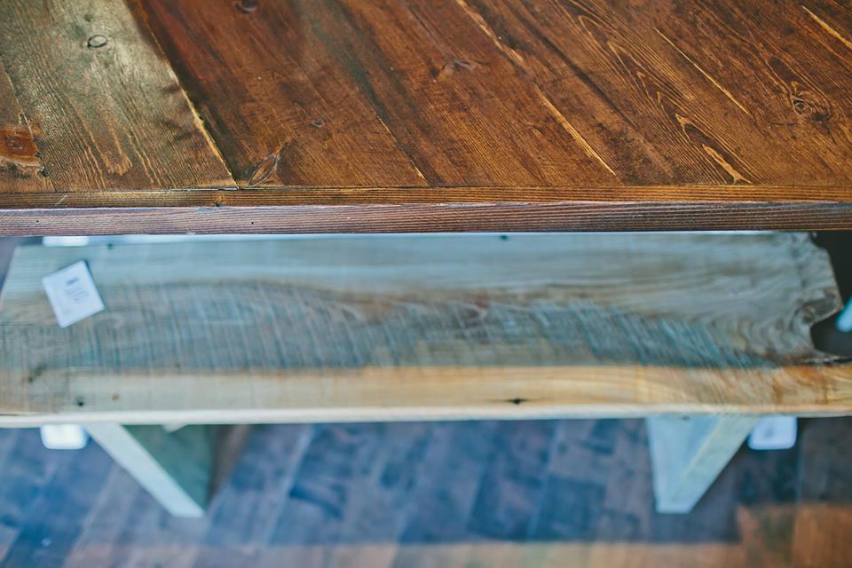 Rough Hewn Bench- $70