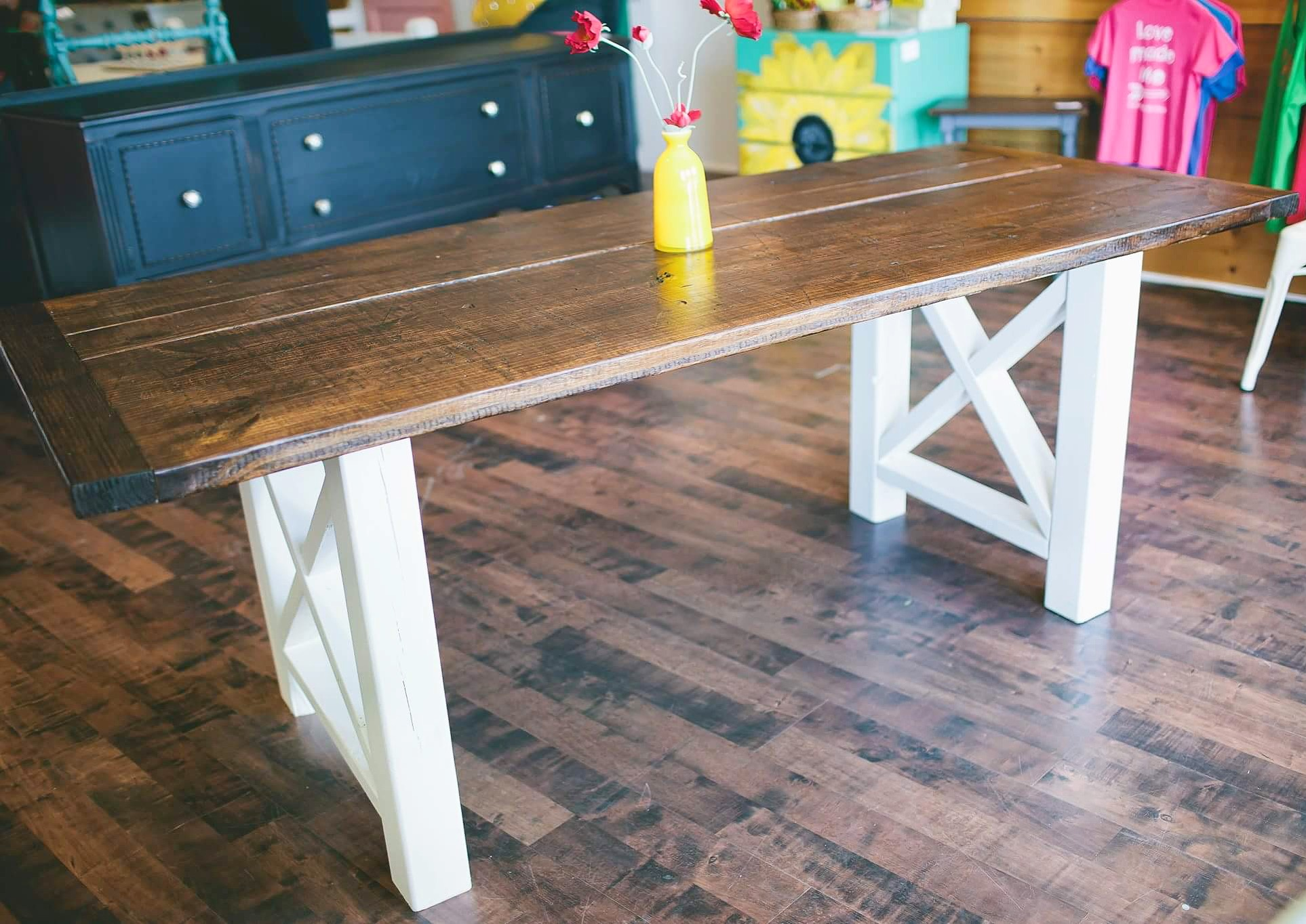 Standard dining table : X Marks the Spot $695 table only