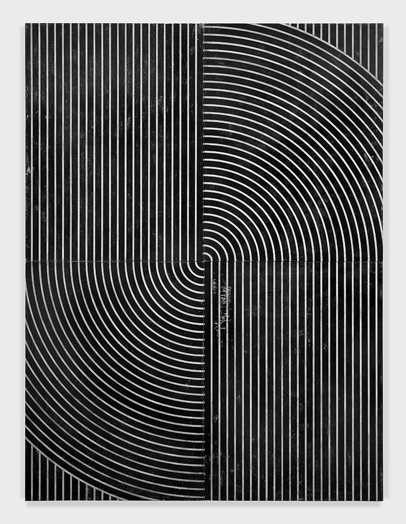 """UNTITLED_7141  Plaster, gesso & lacquer on wood in artist's aluminum frame  96 x 72 x 1 3/4"""" / 243,8x182,8Cm  2015/2016"""