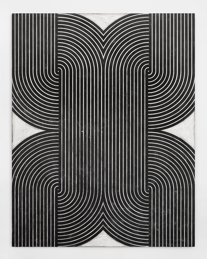 "UNTITLED_2404  Plaster, gesso & lacquer on wood panel  72x56"" / 182.8x142.2 Cm  2015"