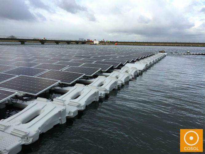 energia solar + flutuante + placas solares