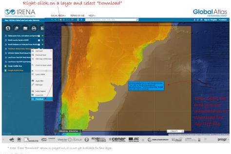 Como baixar os dados solares no Atlas Mundial da Vaisala