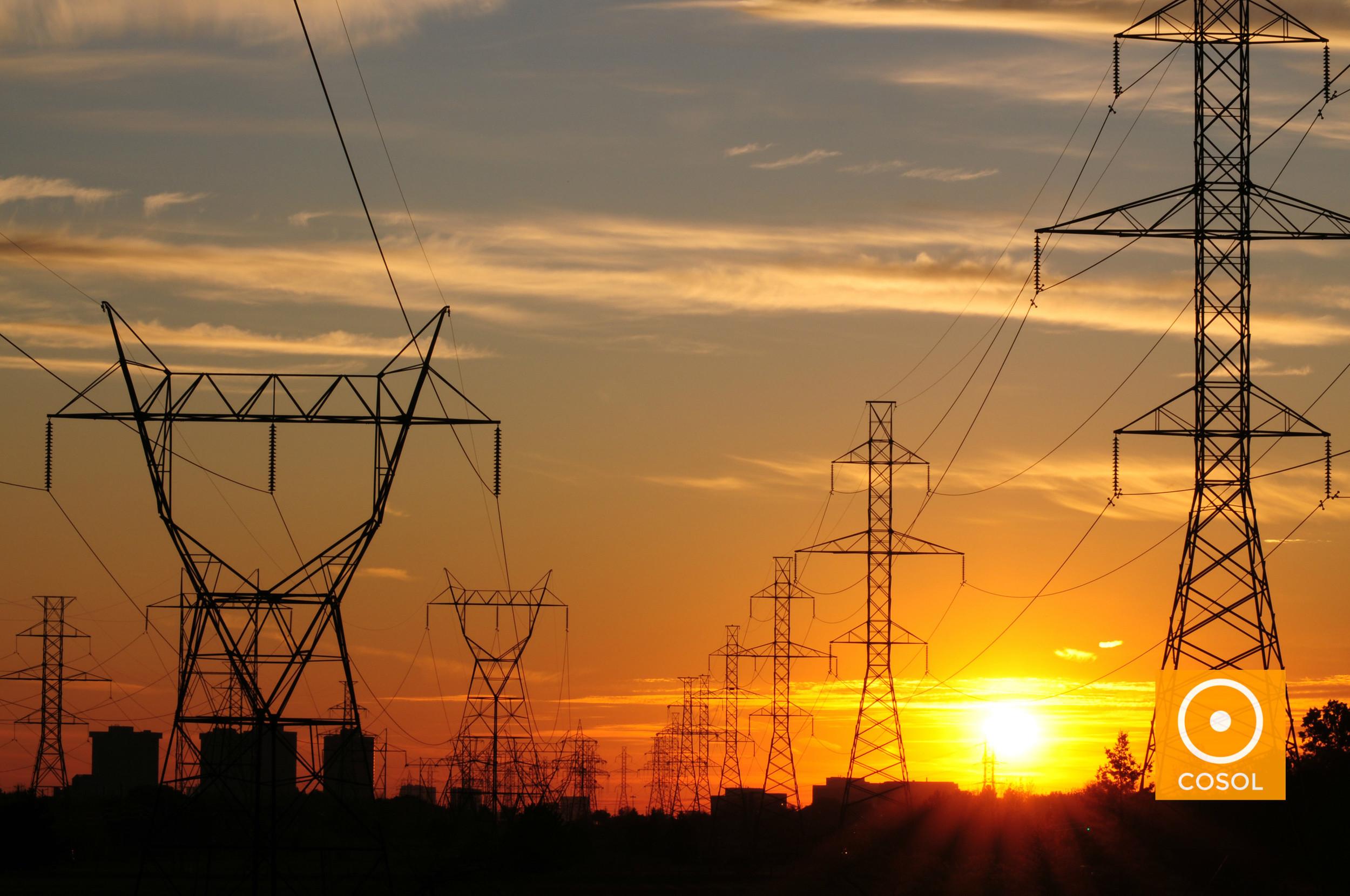 compensação + energia eletrica + cosol