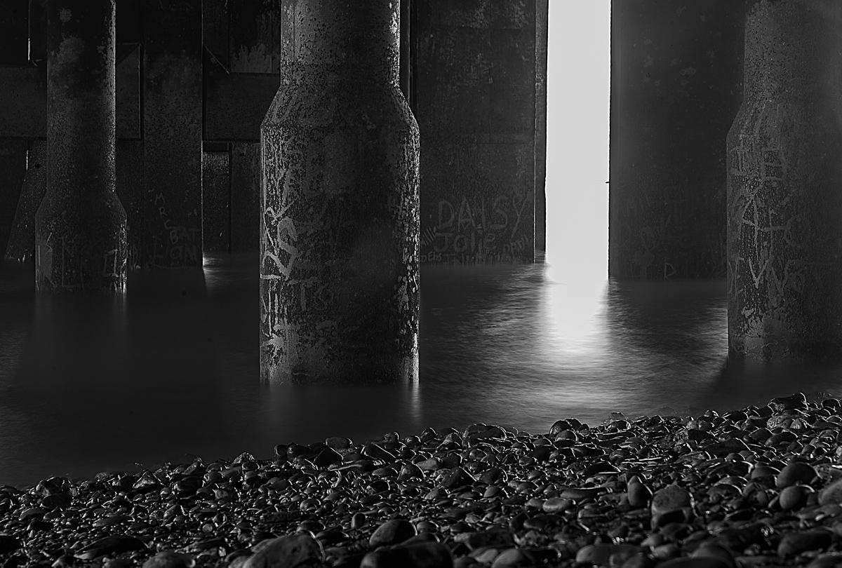 30 Second exposure under Penarth pier ... processed in Alien Skin Exposure 7.