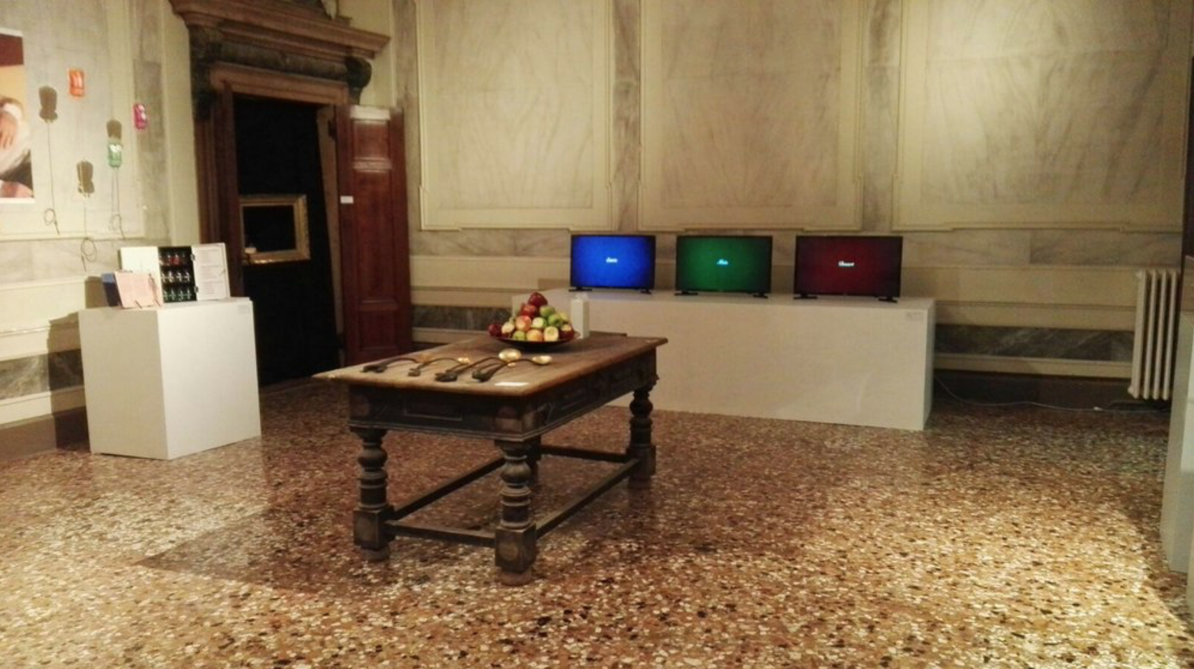 The installation at Palazzo Michiel, Venice