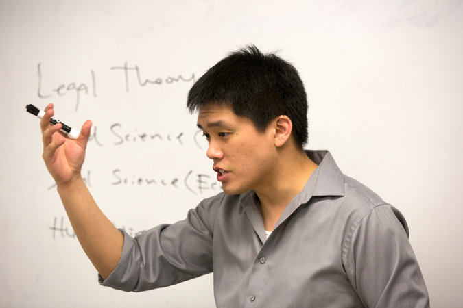 Jonathan Wang graduated from Columbia Law School in 2010; he is a test-prep tutor now. CreditJames Estrin/The New York Times