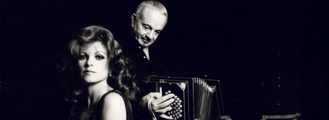 Piazzolla and his muse Egle Martin, who inspired  Maria