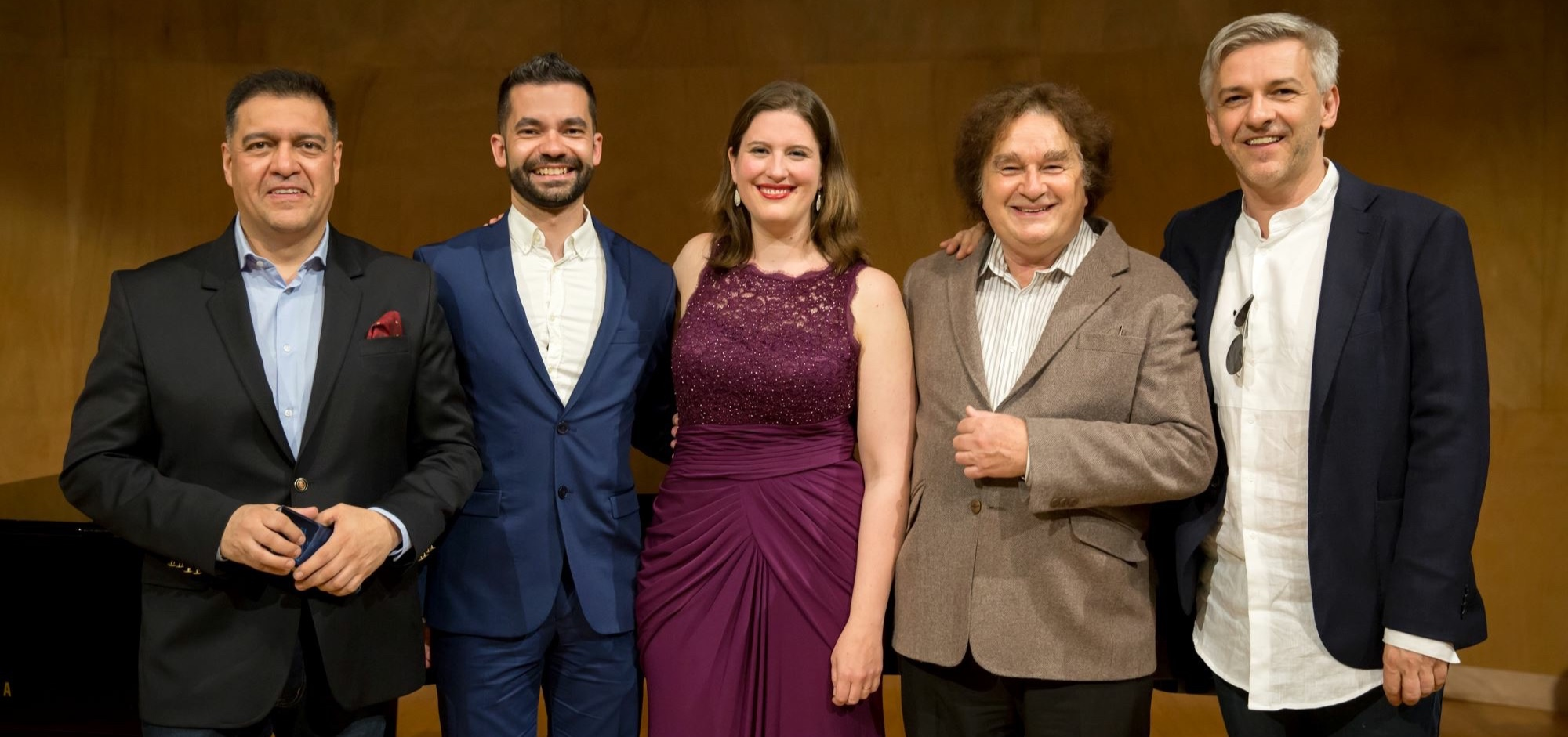 Award ceremony in April 2018 in Paris. Left to right: Xavier Rivadeneira (MusartEH Foundation), yours truly, Katharine Dain (Donna Anna), Michael Meissner (Cuenca Symphony Orchestra), Robert Alföldi (director)