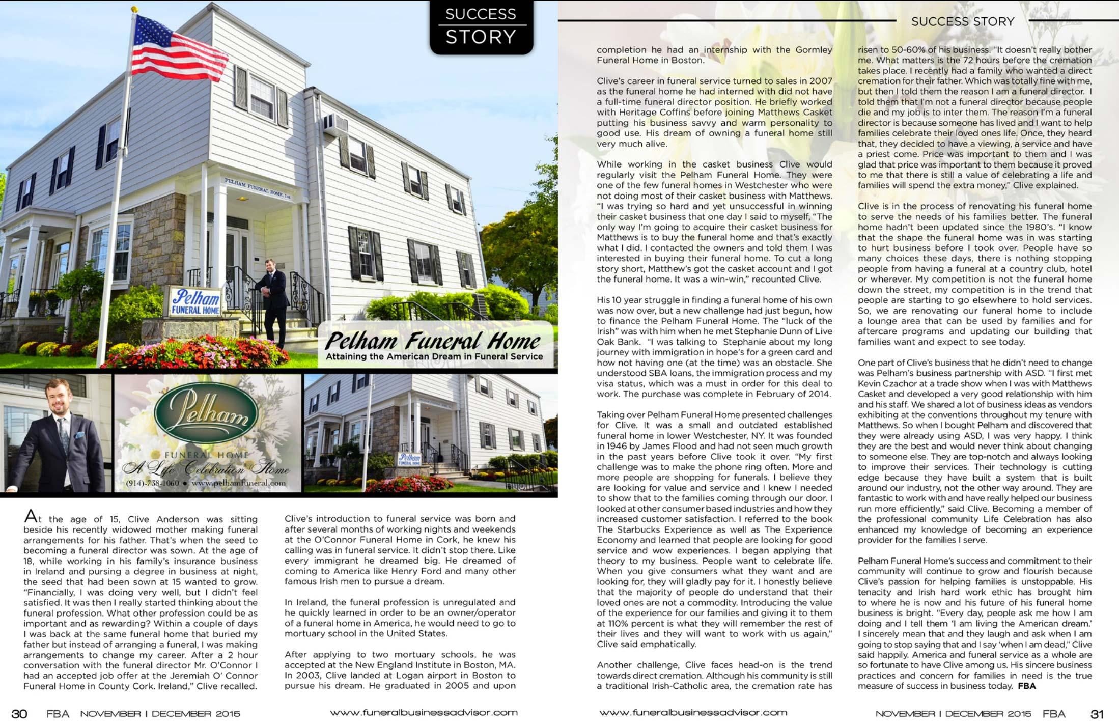 Read About Pelham's Success Story
