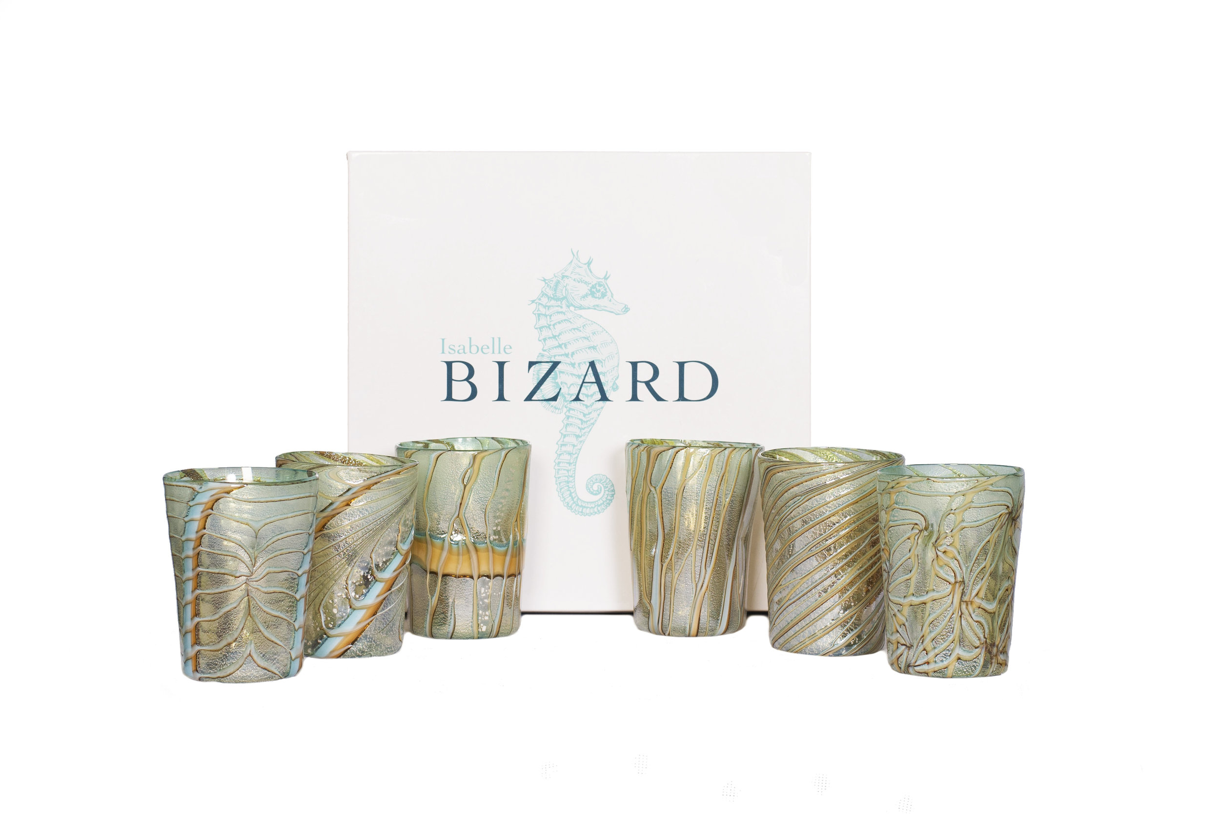 Glassware-Silver_Turquoise & ochre.JPG
