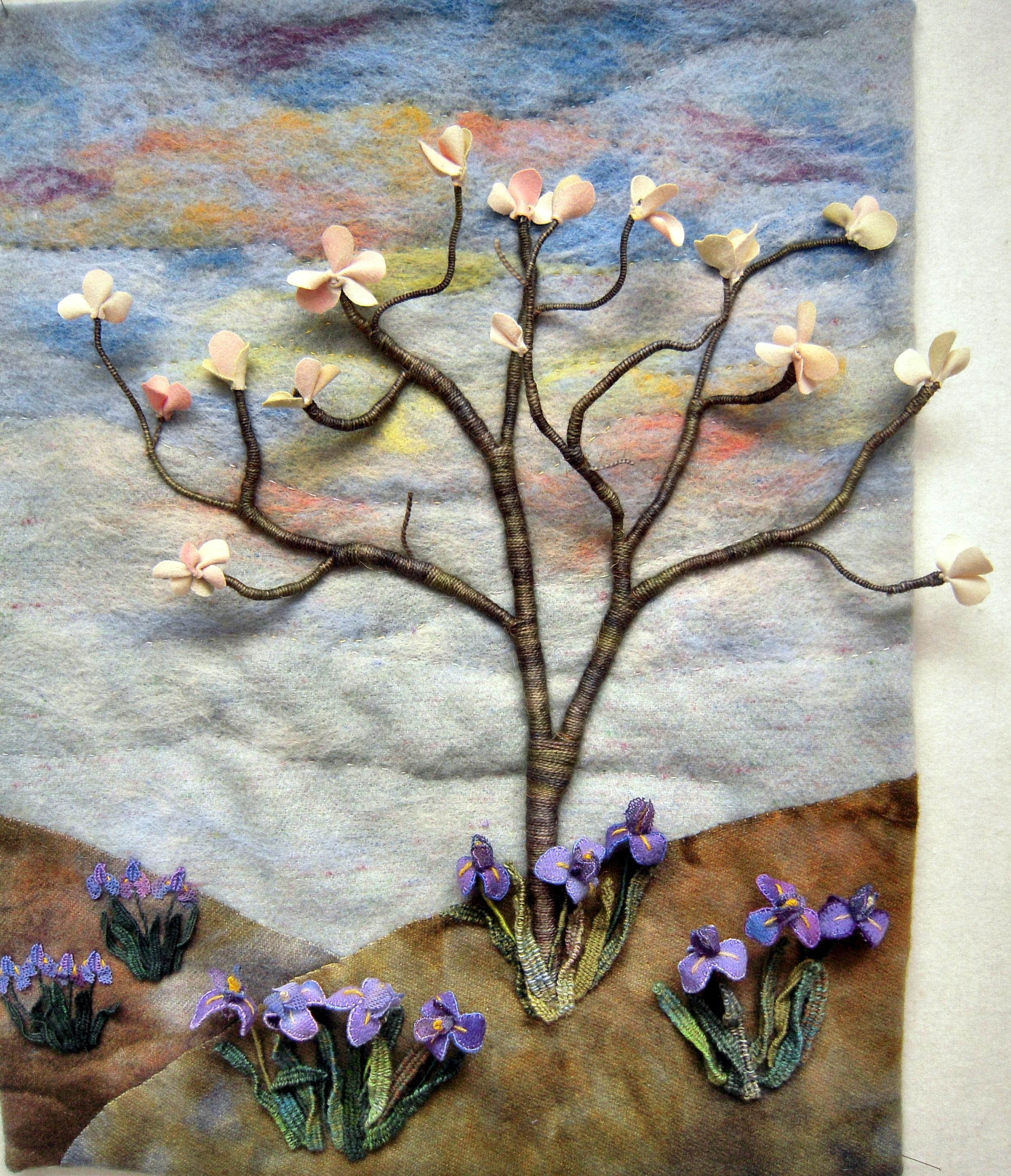 Magnolia and Irises