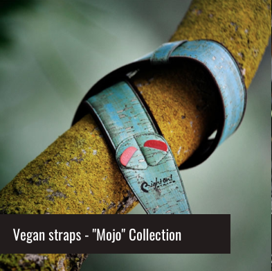 Right On - This company create amazing cork guitar straps.. They have so many Vgang options to choose from and we love them! Their Mojo Collection is very extensive. Perfect for Every Guitar and Bass Player on The Planet.