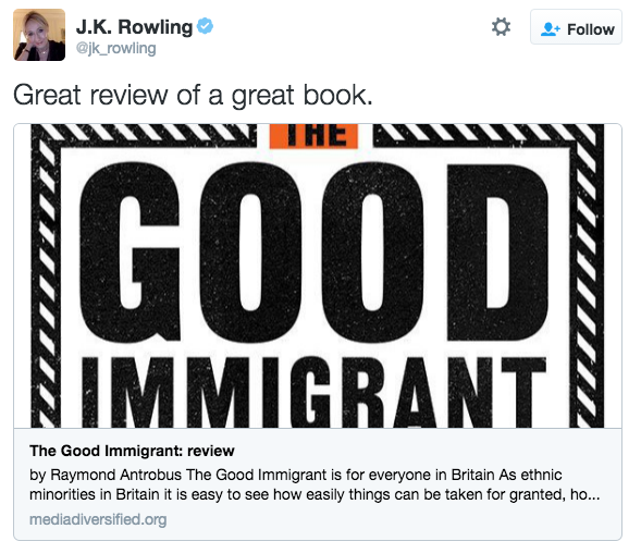 """Great Review of a great book"" - J.K. Rowling"
