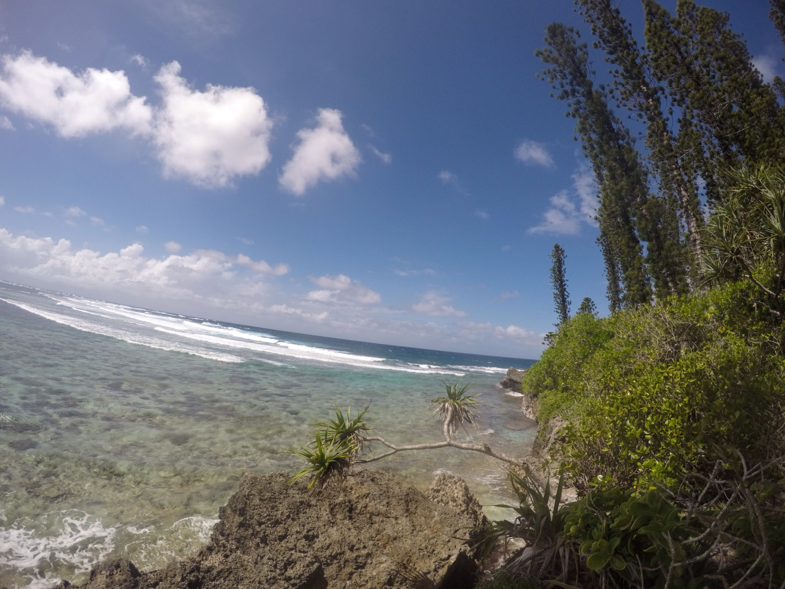 Absorbing the energy. Isle of Pines, New Caledonia.