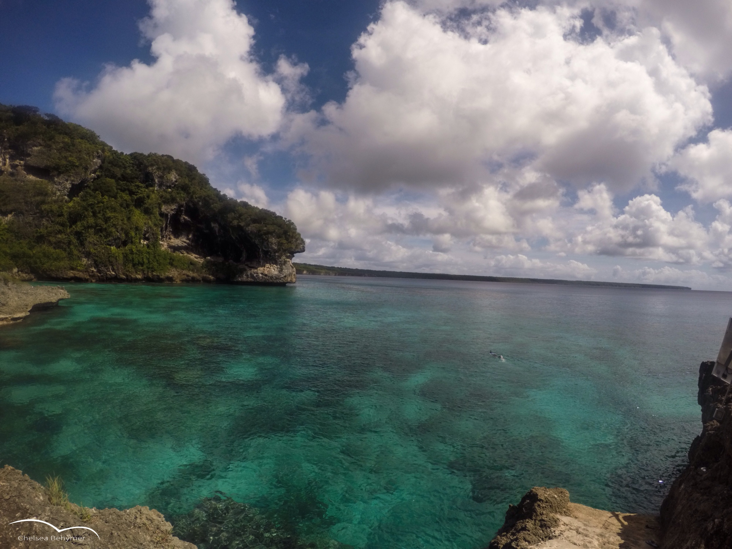 Well worth the protection. Lifou, New Caledonia.