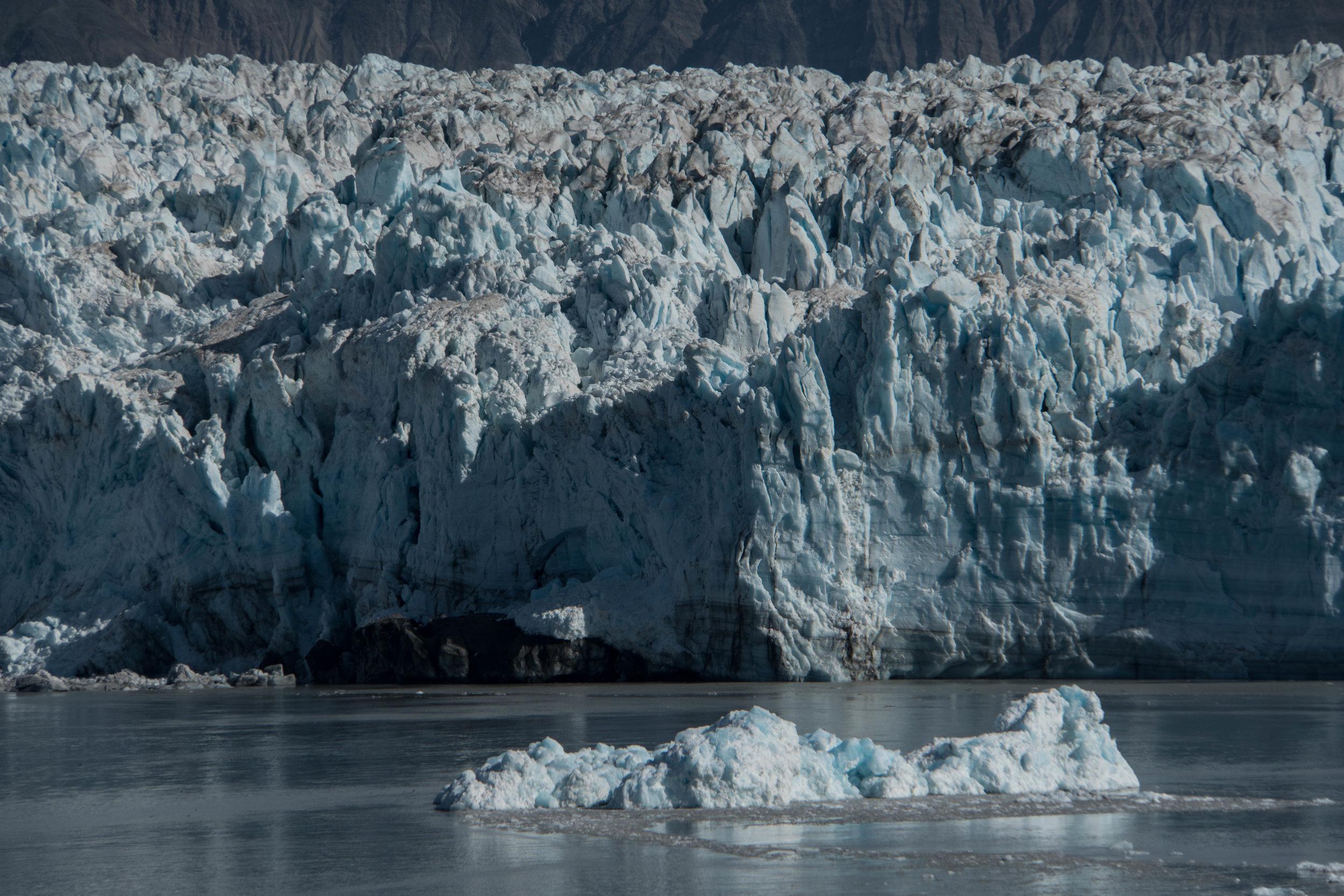 Face to face with Hubbard Glacier. Yakutat Bay, Alaska.