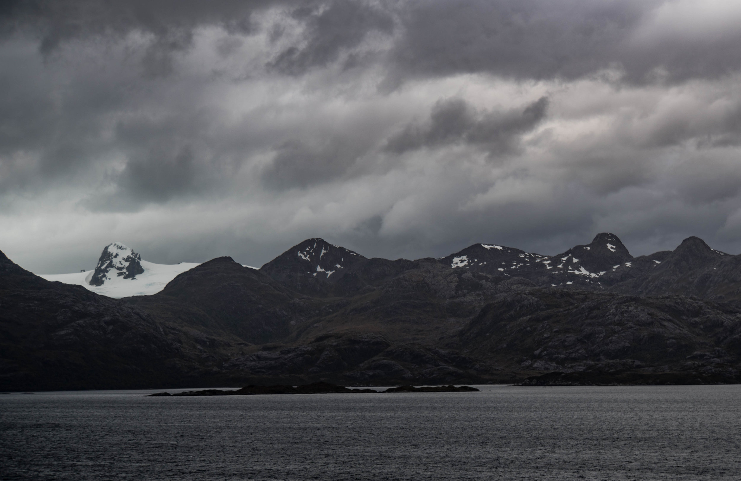 Stunning scenery from dawn to dusk. Chilean Fjords.
