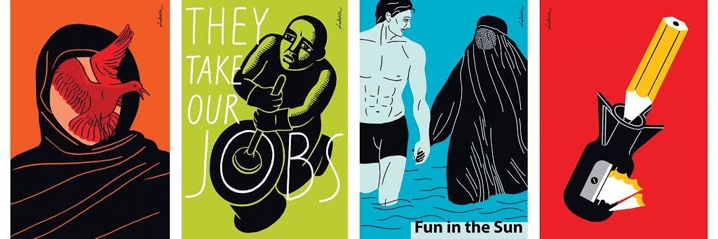 Social Justice posters by artist & designer, Luba Lukova