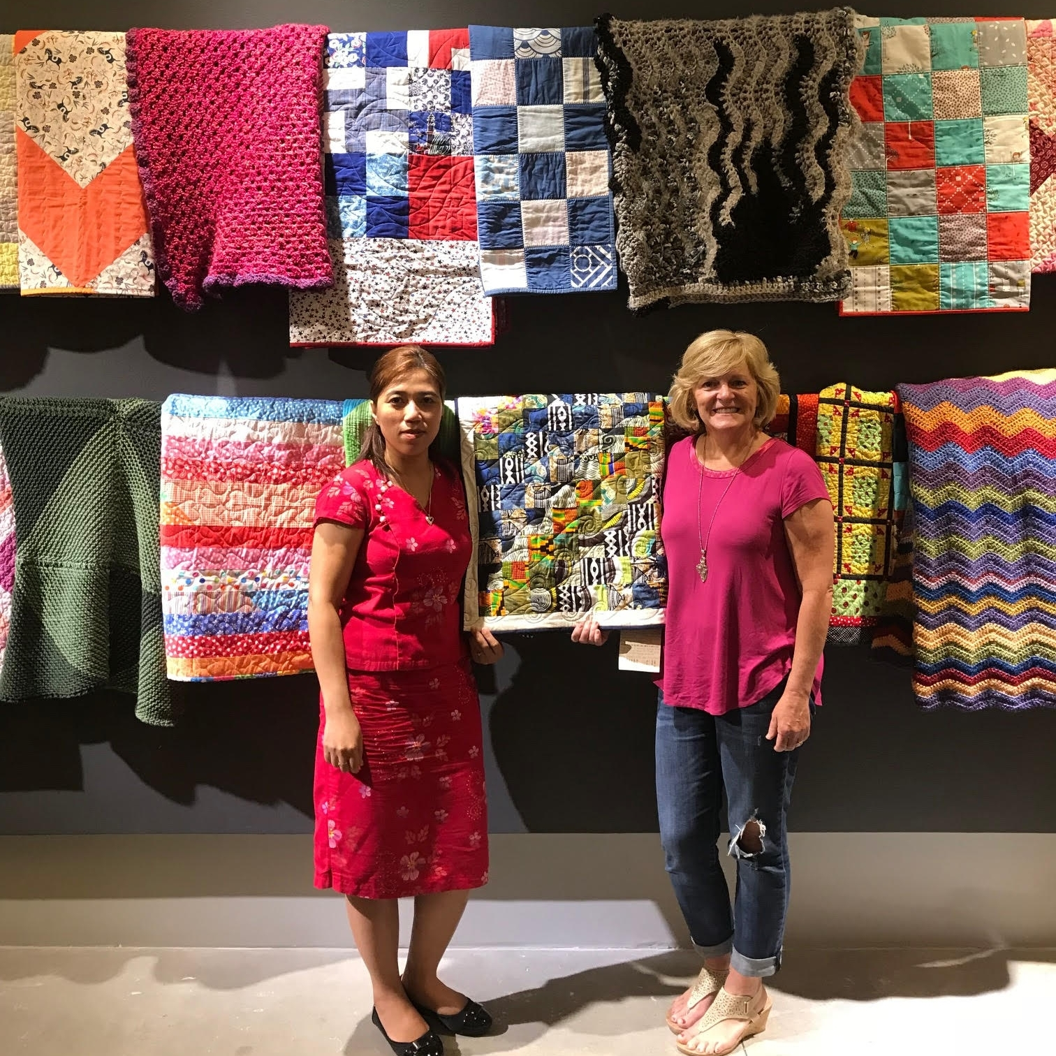Kay (left) and Elizabeth (right) of Tandem Quilting