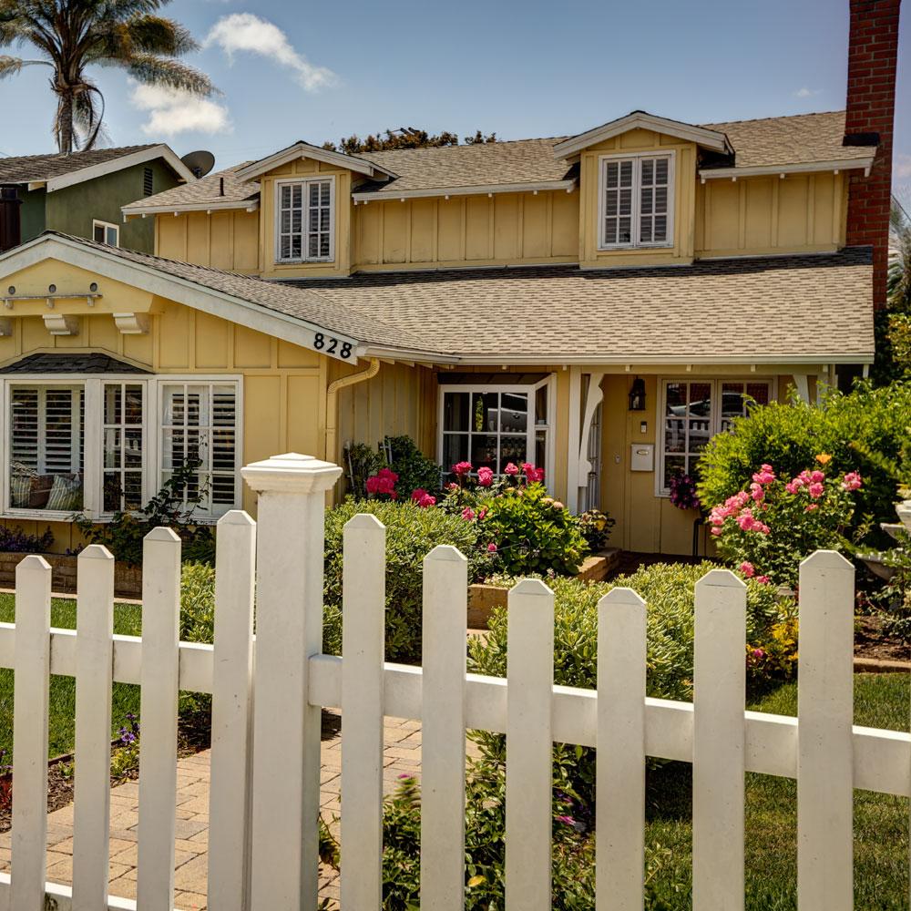 Front Yard Roses - Redondo Beach Home