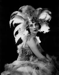 Pola Negri and feathers