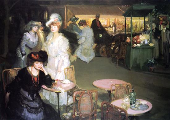 Edwardian cafe scene