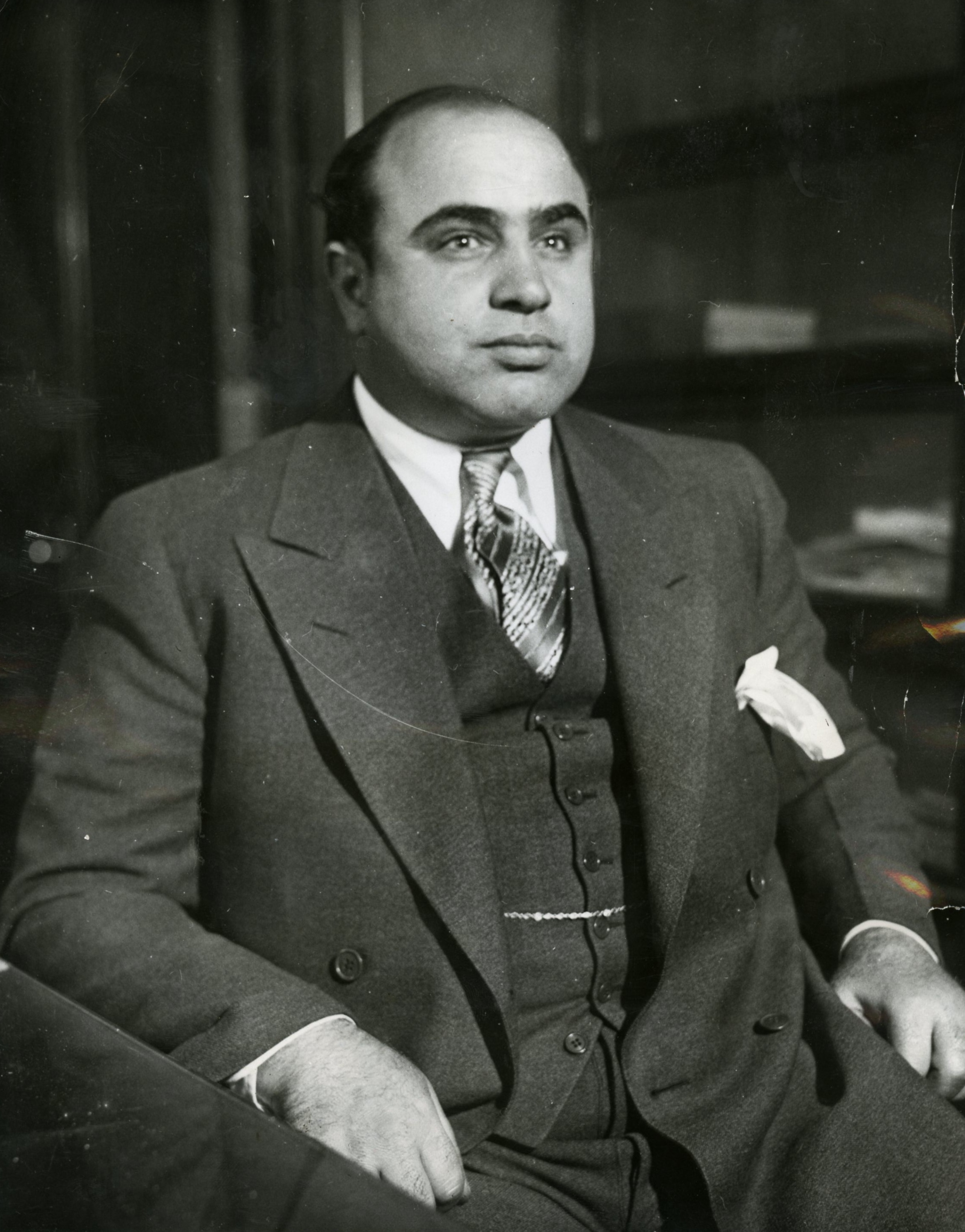 Al Capone in a suit