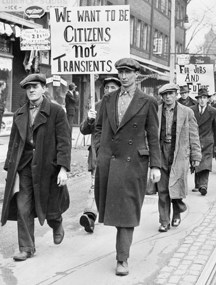 Working men's fashions in 1930s