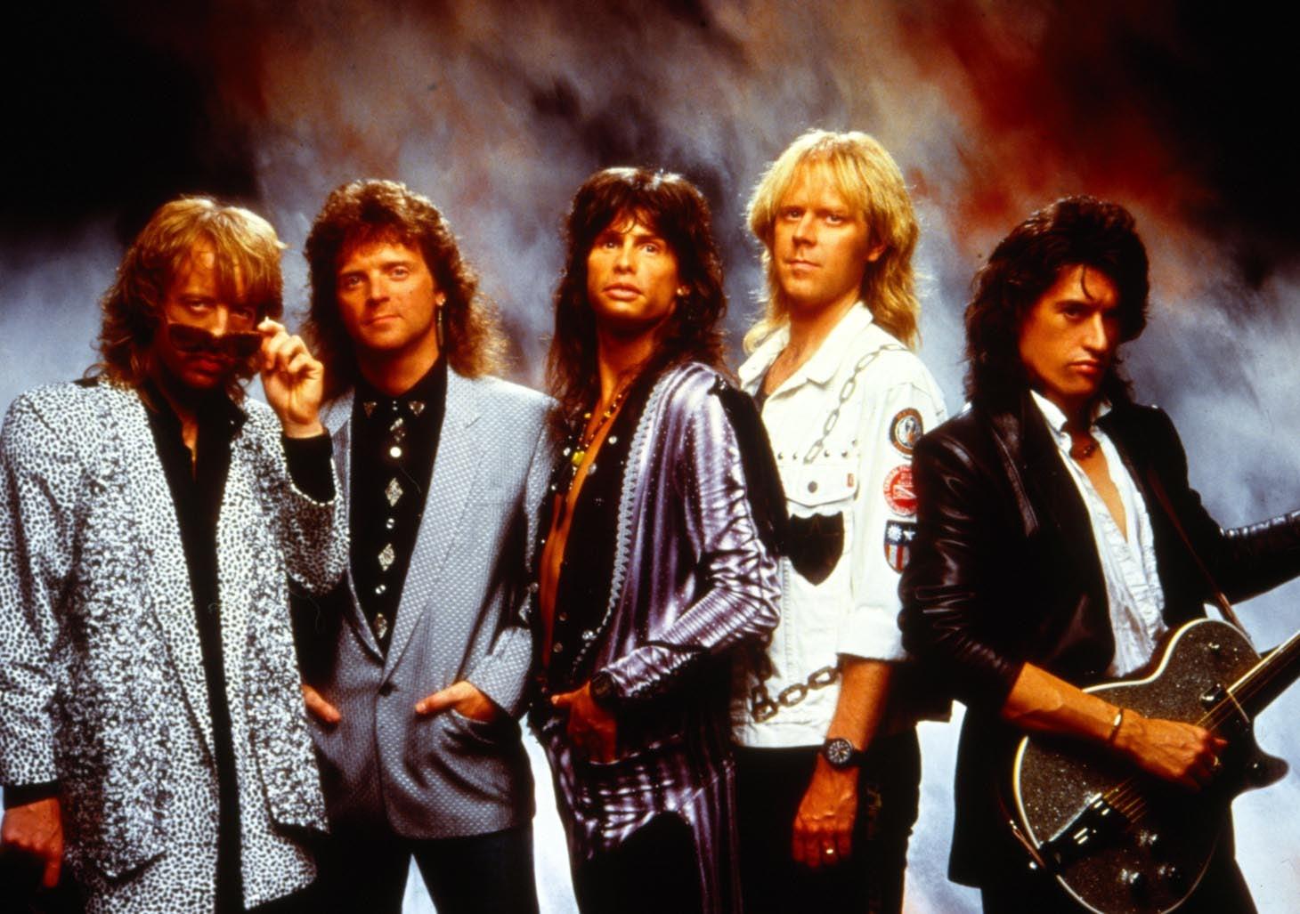 Aerosmith show off their hair