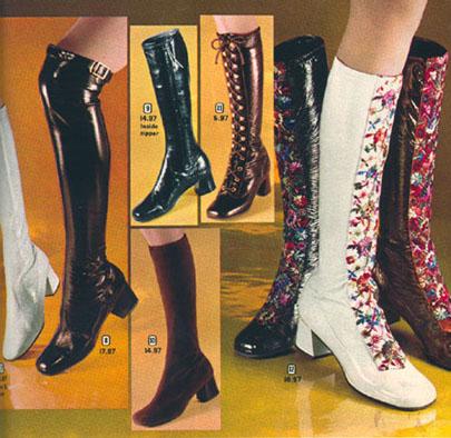 Seventies fashion boots