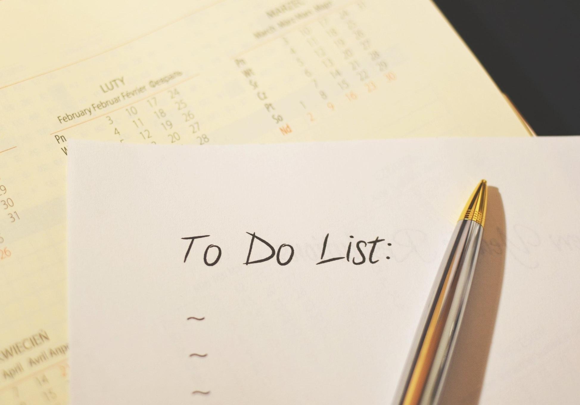 closing day checklist