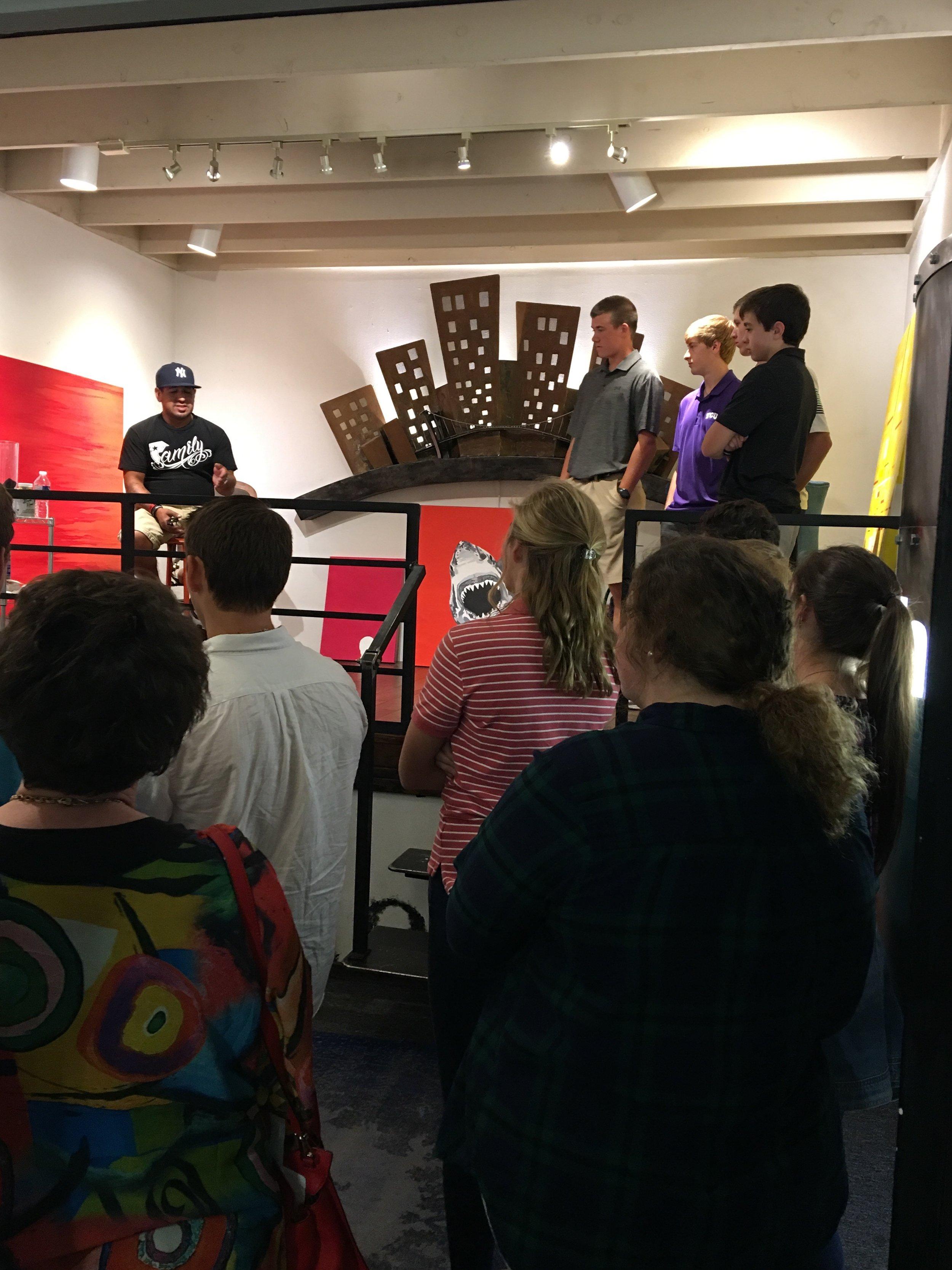 ARTIST JONAH LAMONICA SHARES HOW HIS ART CAREER BEGAN IN MIDLAND TX WITH MIDLAND CHRISTIAN HIGH SCHOOL ART STUDENTS