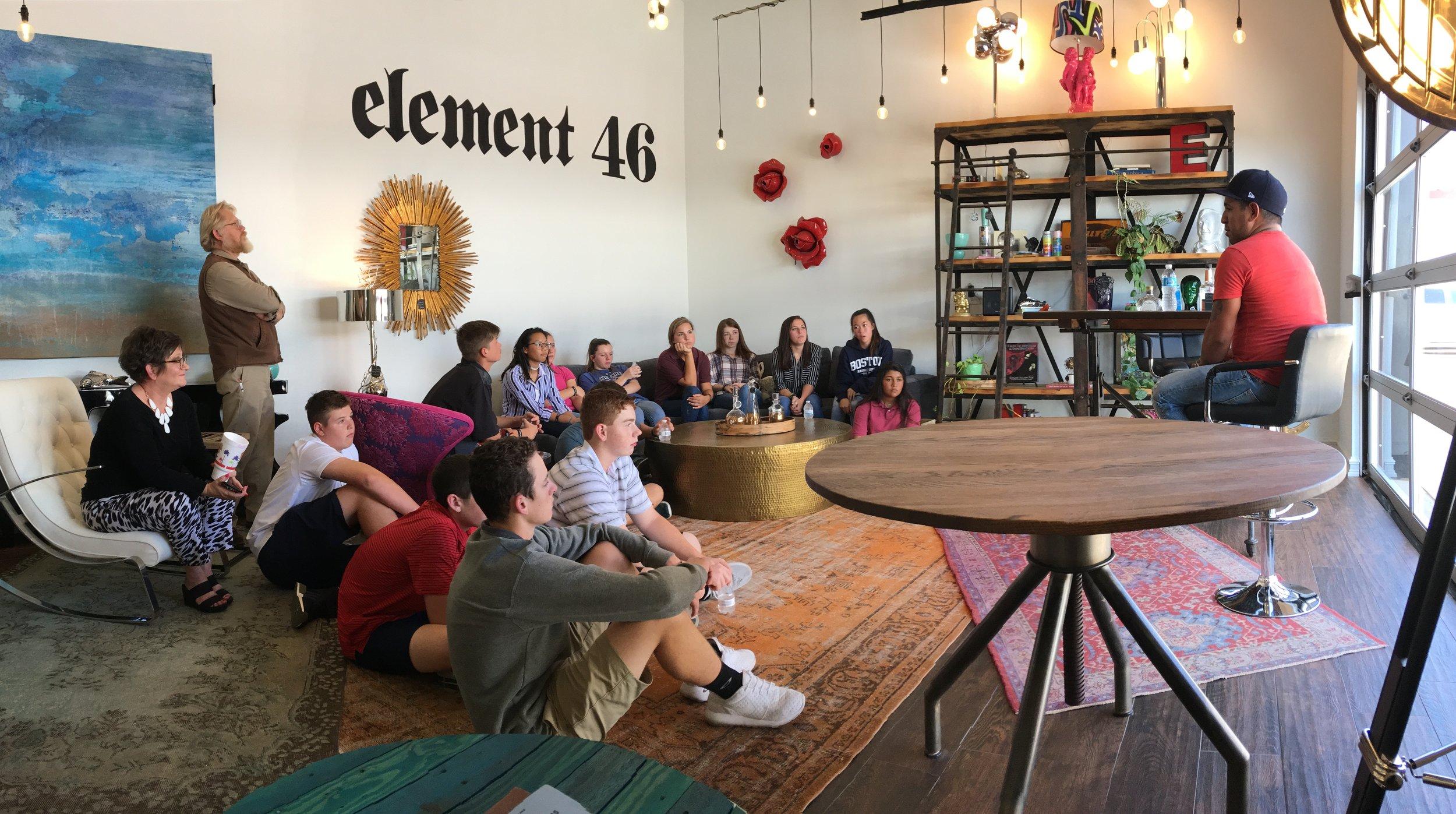 MIDLAND CHRISTIAN HIGH SCHOOL ART STUDENTS VISIT PALLADIUM ARTS STUDIO