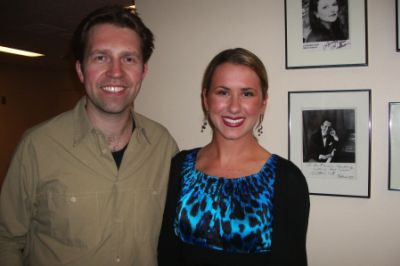 Lindsay with Leif Ove Andsnes after his performance with  the San Francisco Symphony, May 2008.