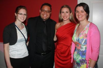 Lindsay with her friends and sister after her solo performance  with the Atlantic Classical Orchestra, Stuart, January 2012.