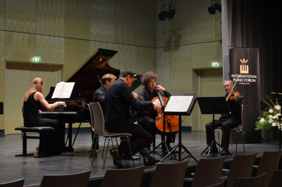 German Piano Award; Performance of Brahms Quintet with the Leipzig String Quartet (March 2014); Photo Credit: Marcus Freisem