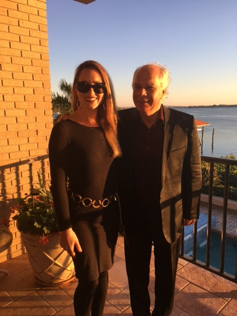 With brilliant French pianist Pierre Reach after his recital in Sewalls Point, Florida (January 2016)