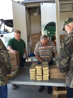 Duane and Jimmy at the Mobile Food Pantry