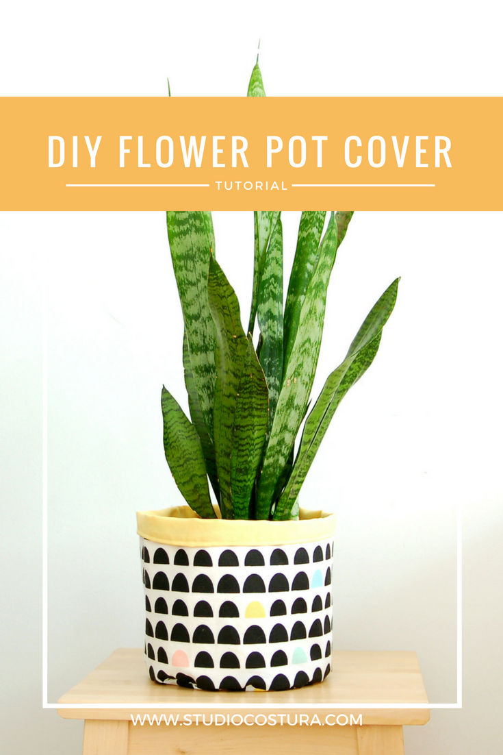 DIY tutorial flower pot cover /funda de maceta www.studiocostura.com