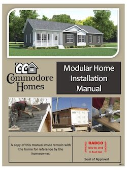 Installation Manuals — Riverview Homes, Inc. on