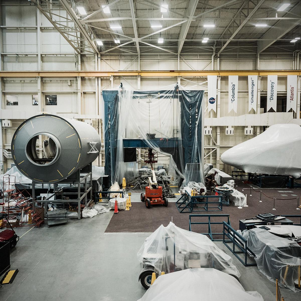 Houston Space Center factory floor