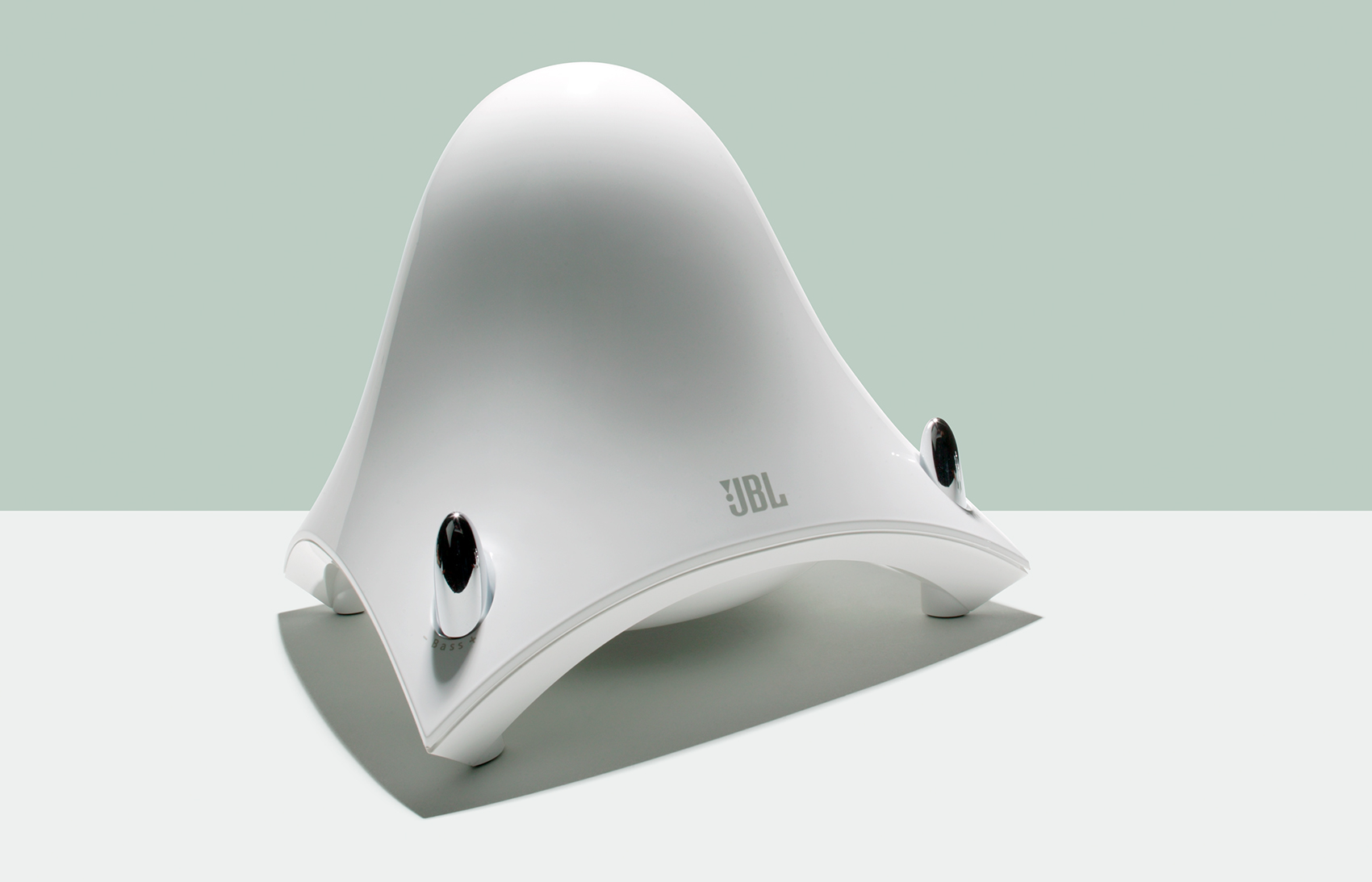 beautiful tech product studio photo of JBL Speaker Subwoofer