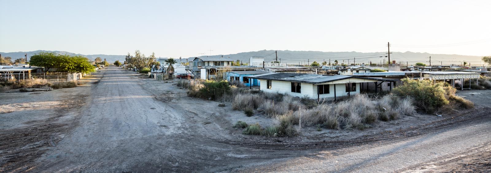 Bombay Beach neighborhood in the Salton Sea.