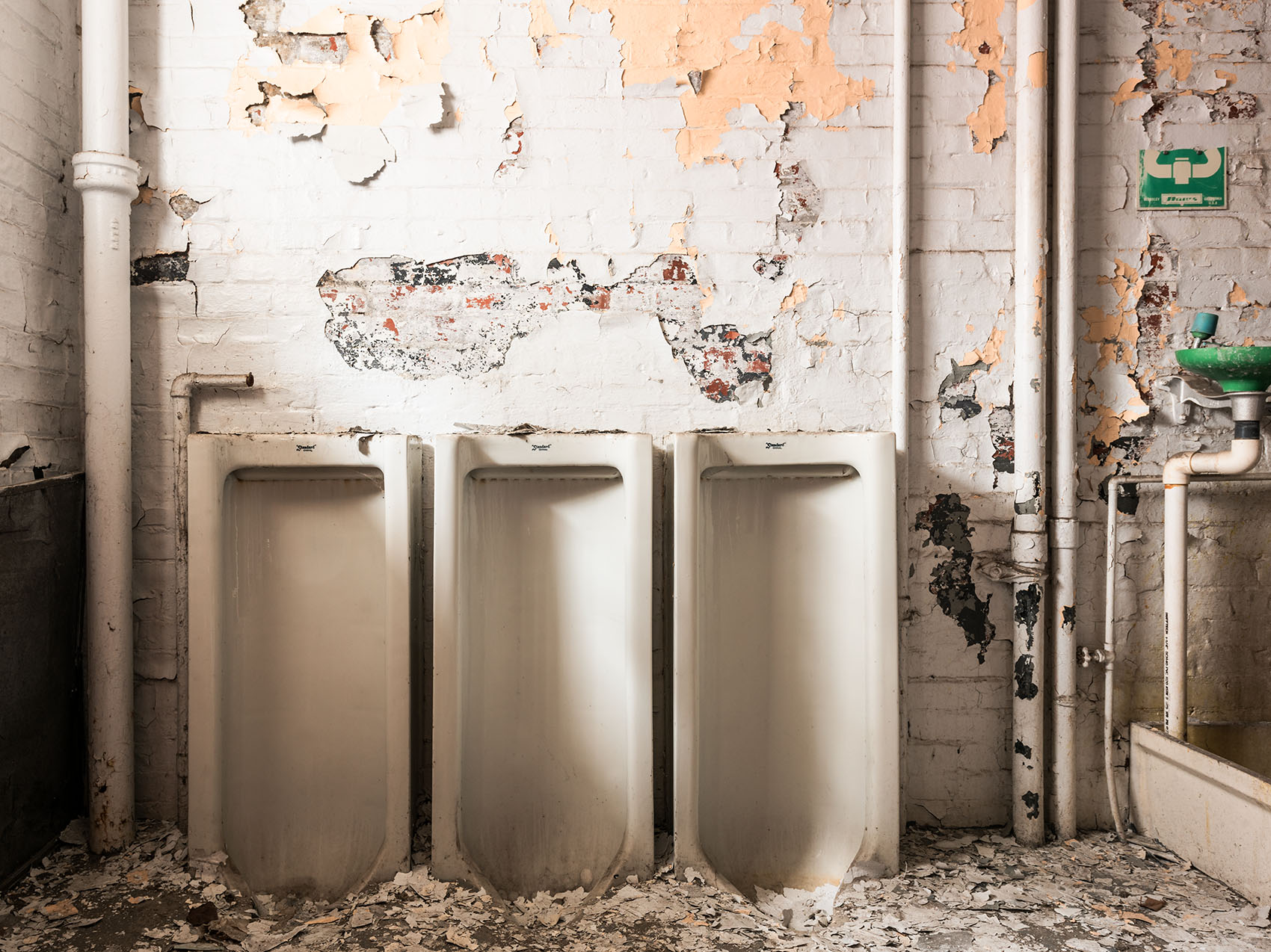 abandoned bathroom Silo City ghost town