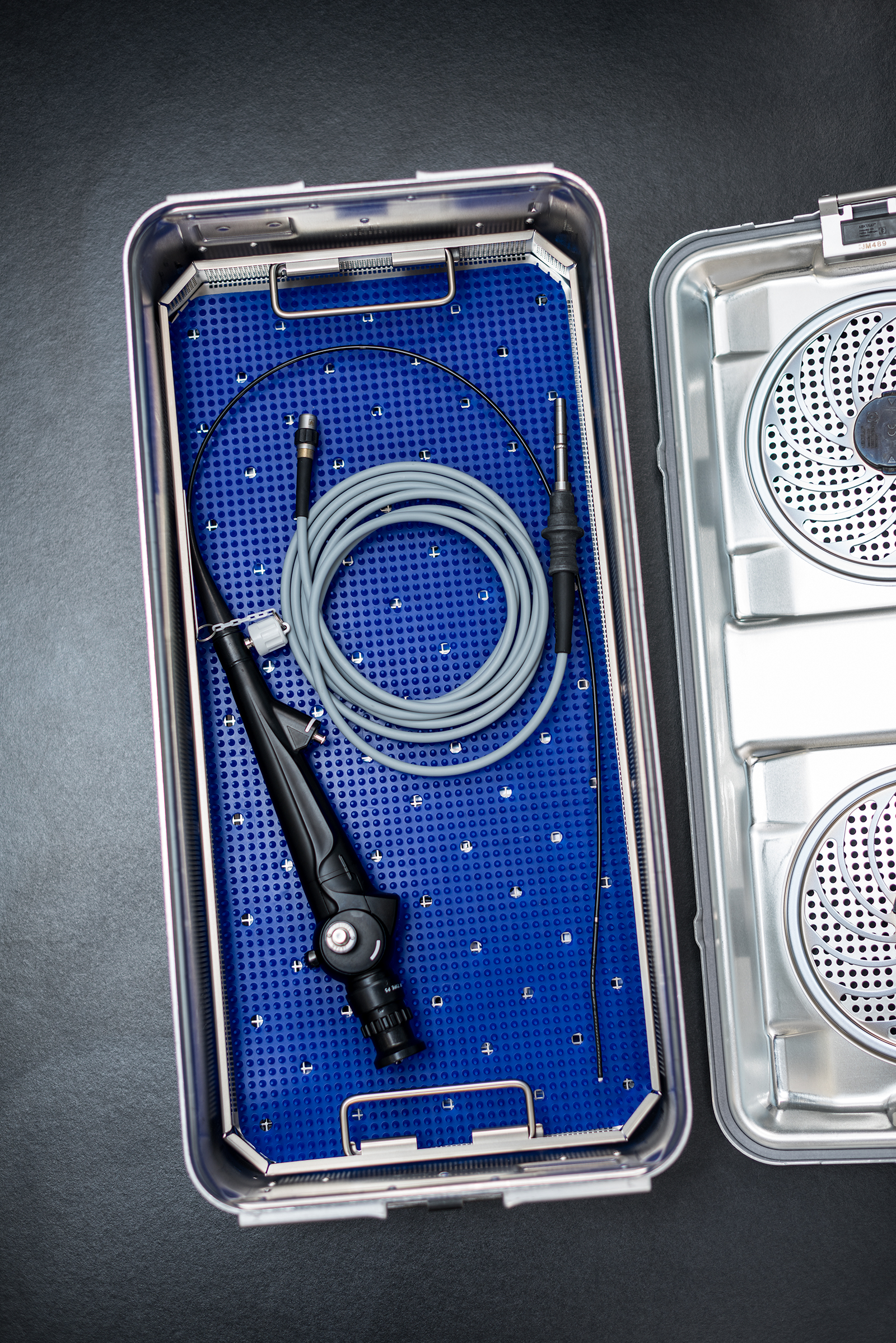 Medical tools in a case