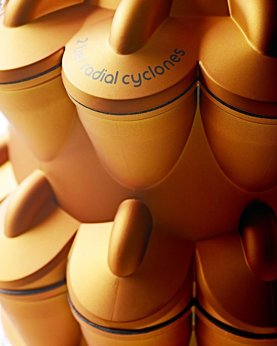 high tech photo studio Closeup detail of Dyson Ball Vacuum Cleaner