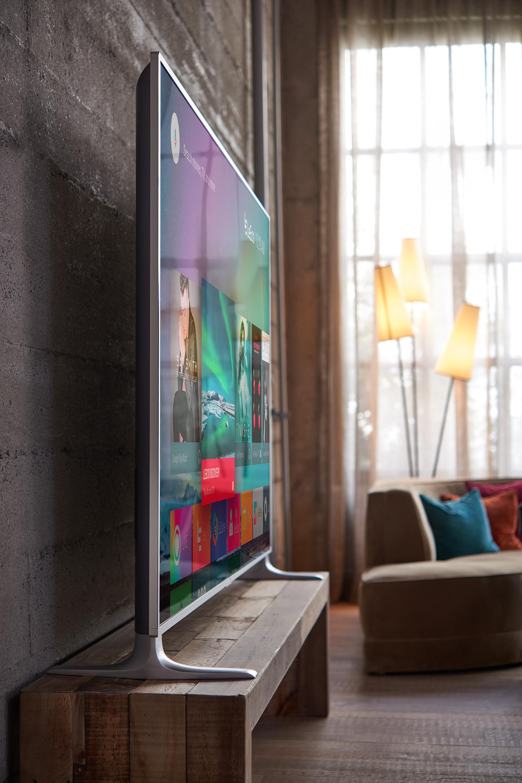 LeEco led TV in a modern living room