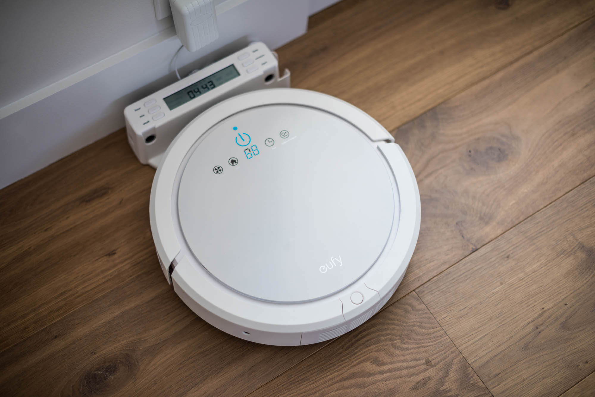 Robotic vacuum product in charger