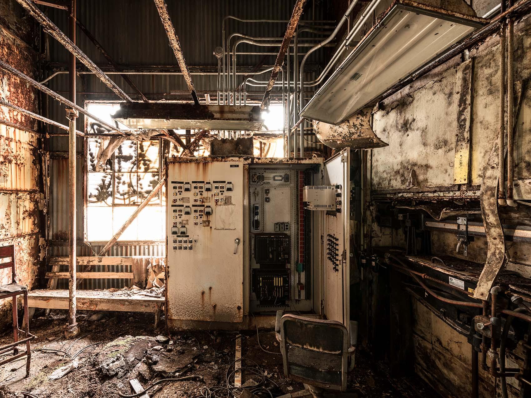 abandoned rusty control room silo city ny