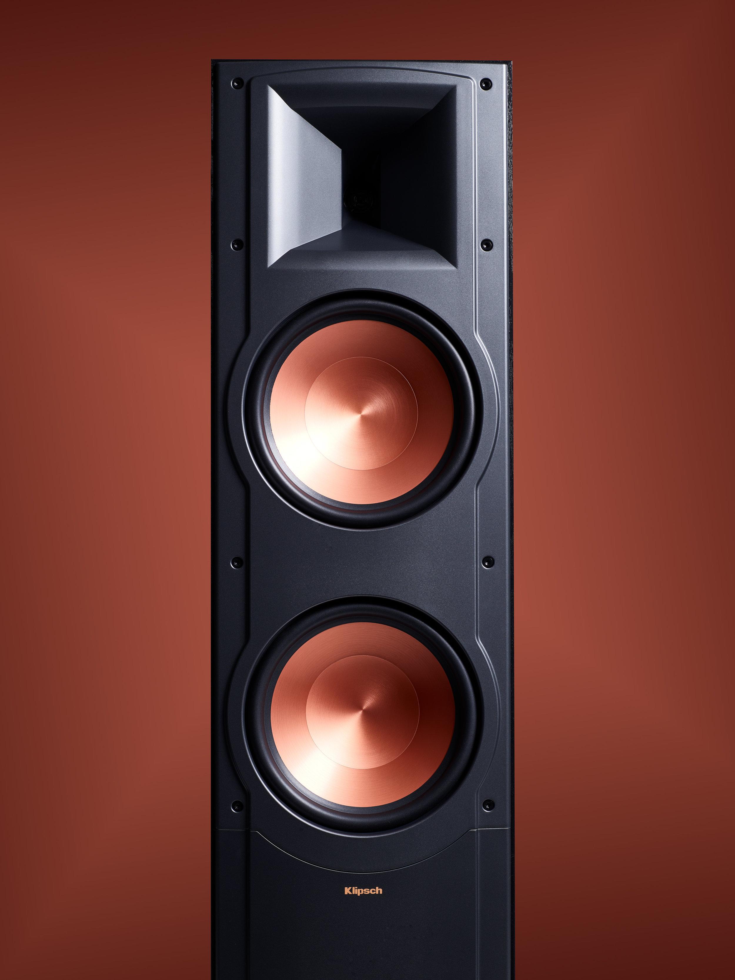 Klipsch Speaker on copper background